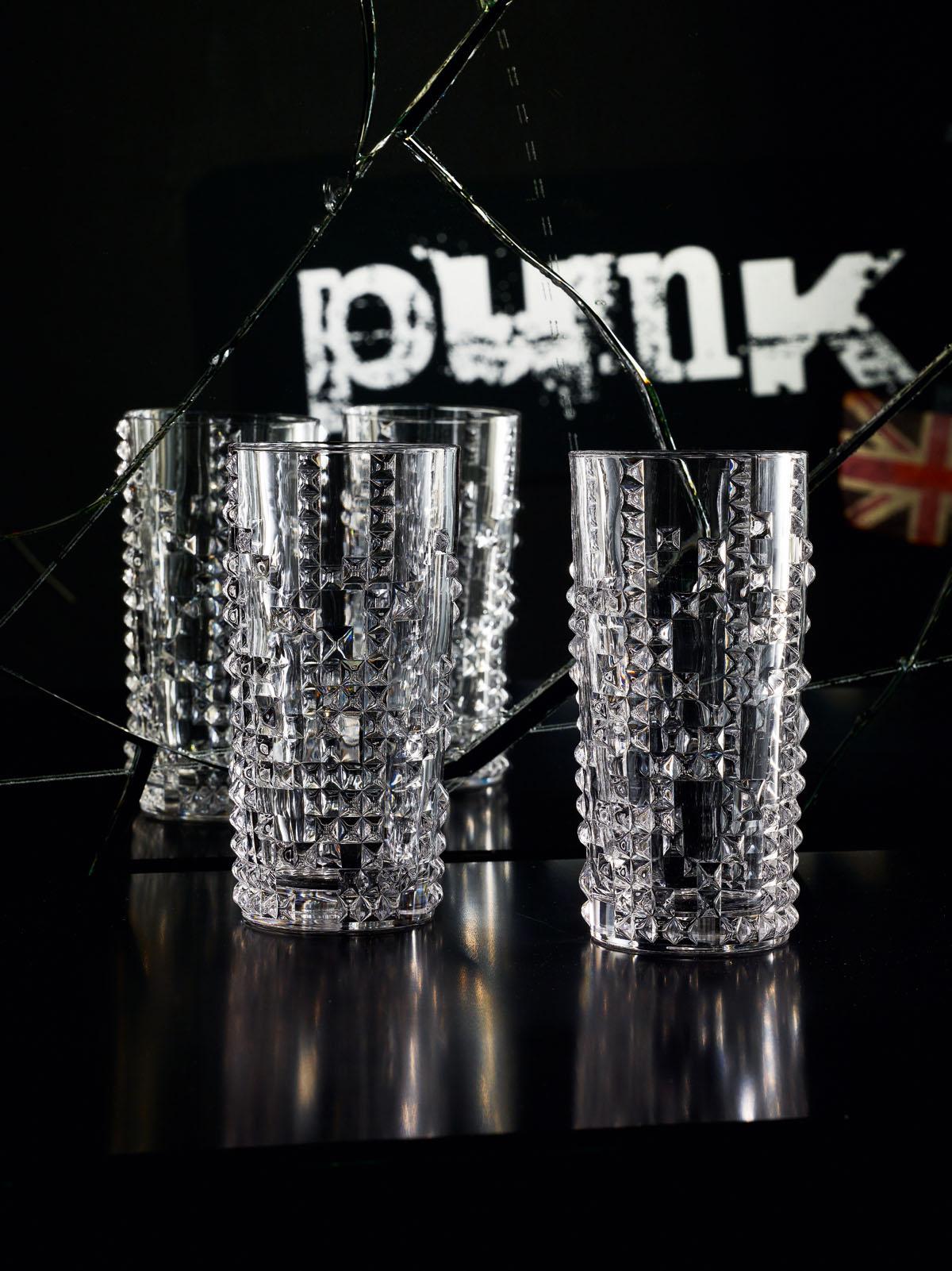 Punk Set 4 Pahare Cristalin Apa 390 Ml 2021 aranjareamesei.ro