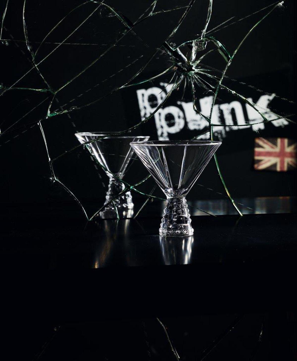 Punk Set 2 Cupe Cocktail Cristalin 230 Ml 2021 aranjareamesei.ro