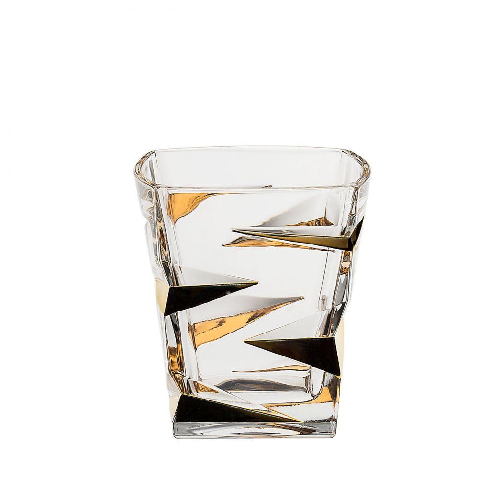Zig Zag Set 6 Pahare Cristal Bohemia Decor Aur Whisky 360 Ml 2021 aranjareamesei.ro