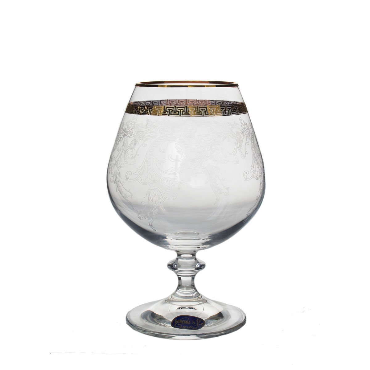 Giulia Set 6 Pahare Cristalin Decor Aur Brandy 400 Ml 2021 aranjareamesei.ro