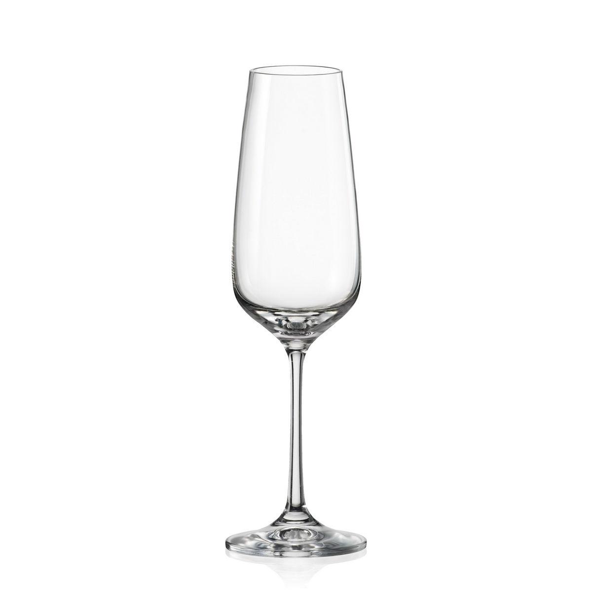 Giselle Set 6 Pahare Cristalin Sampanie 190 Ml 2021 aranjareamesei.ro