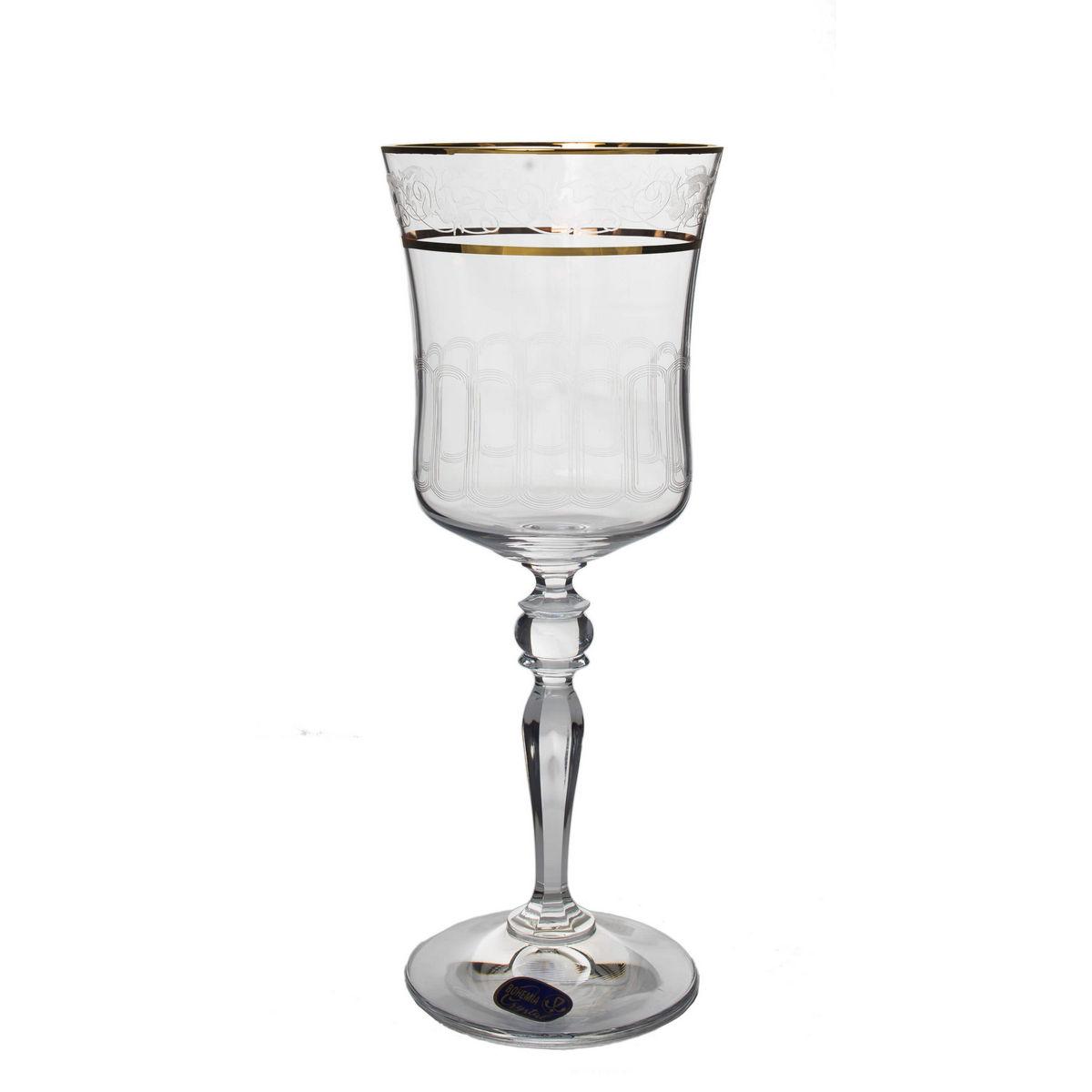 Grace Set 6 Pahare Cristalin Decor Aur Vin 300 Ml 2021 aranjareamesei.ro