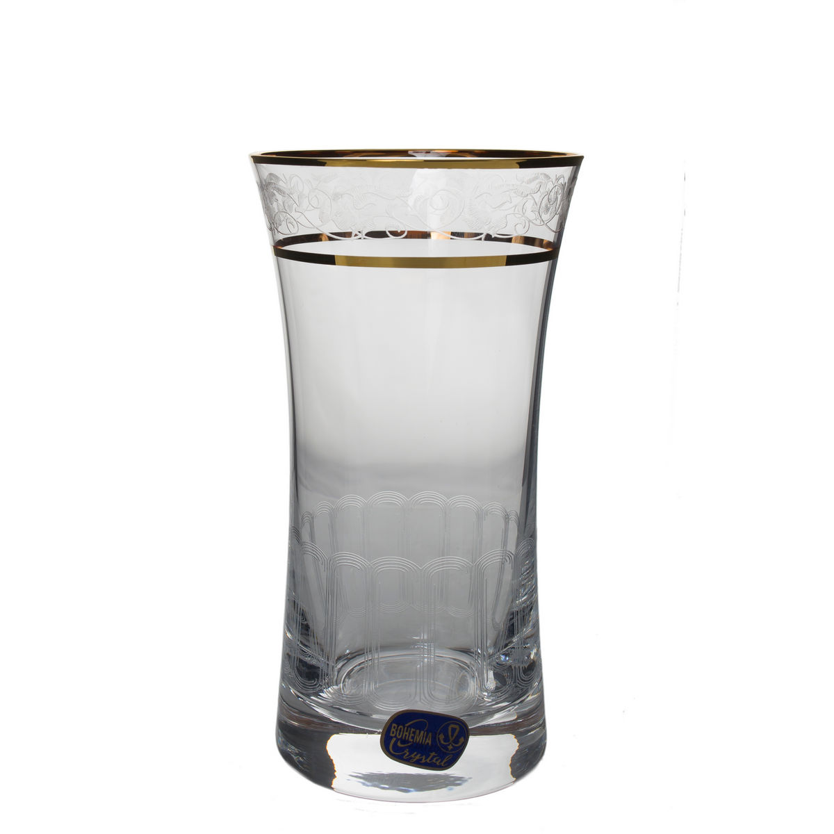 Grace Set 6 Pahare Cristalin Decor Aur Apa 340 Ml 2021 aranjareamesei.ro