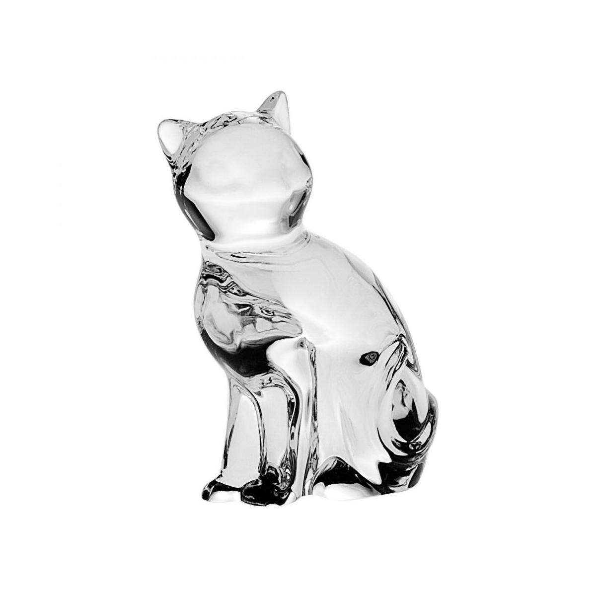 "Figurina Cristal Bohemia ""Pisica"" 6 Cm 2021 aranjareamesei.ro"