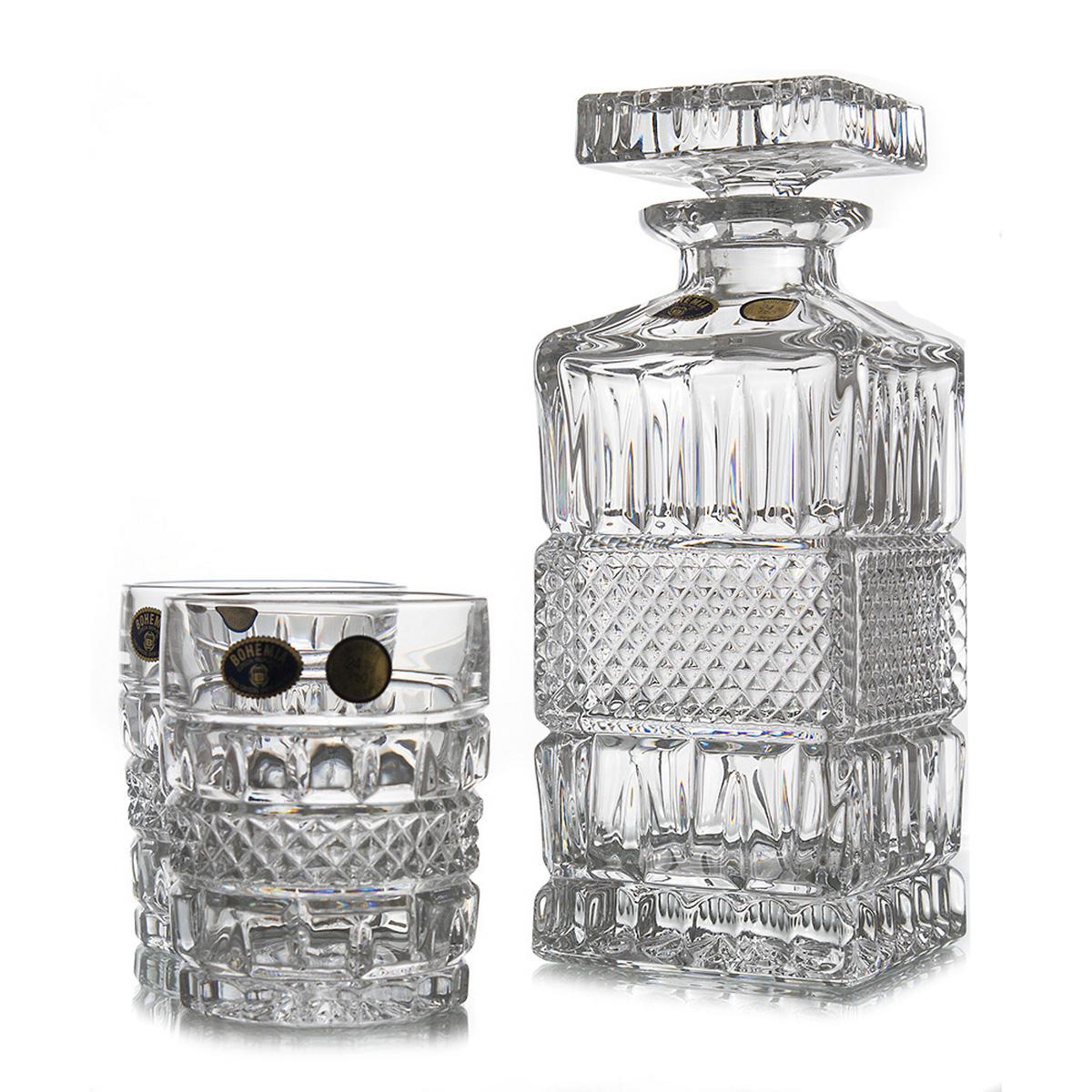 Brittany Set 6 Pahare Si Decantor Cristal Bohemia Whisky 2021 aranjareamesei.ro