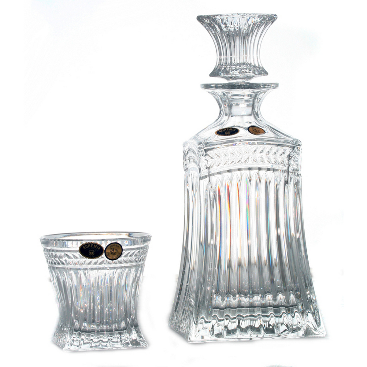 Imperial Set 6 Pahare Si Decantor Cristal Bohemia Whisky 2021 aranjareamesei.ro