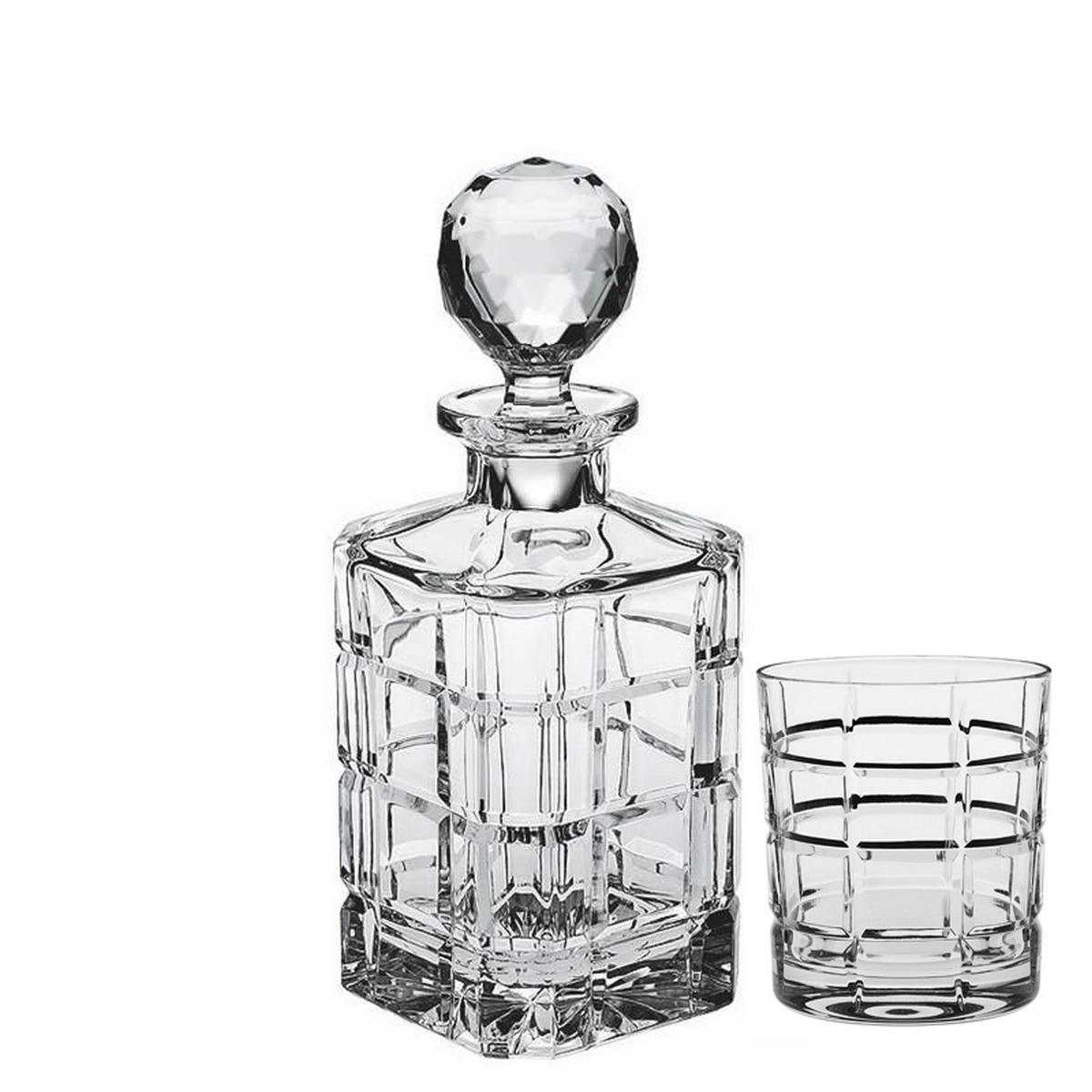 Square Set 6 Pahare Si Decantor Cristal Bohemia Whisky 2021 aranjareamesei.ro