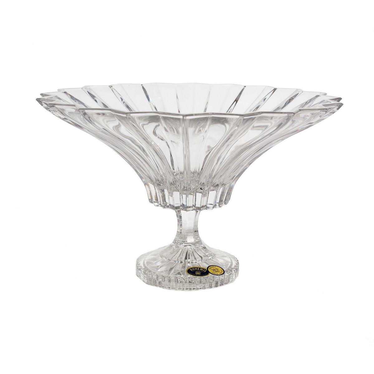 Bol Cristal Bohemia Cu Picior De 24.5 Cm 2021 aranjareamesei.ro