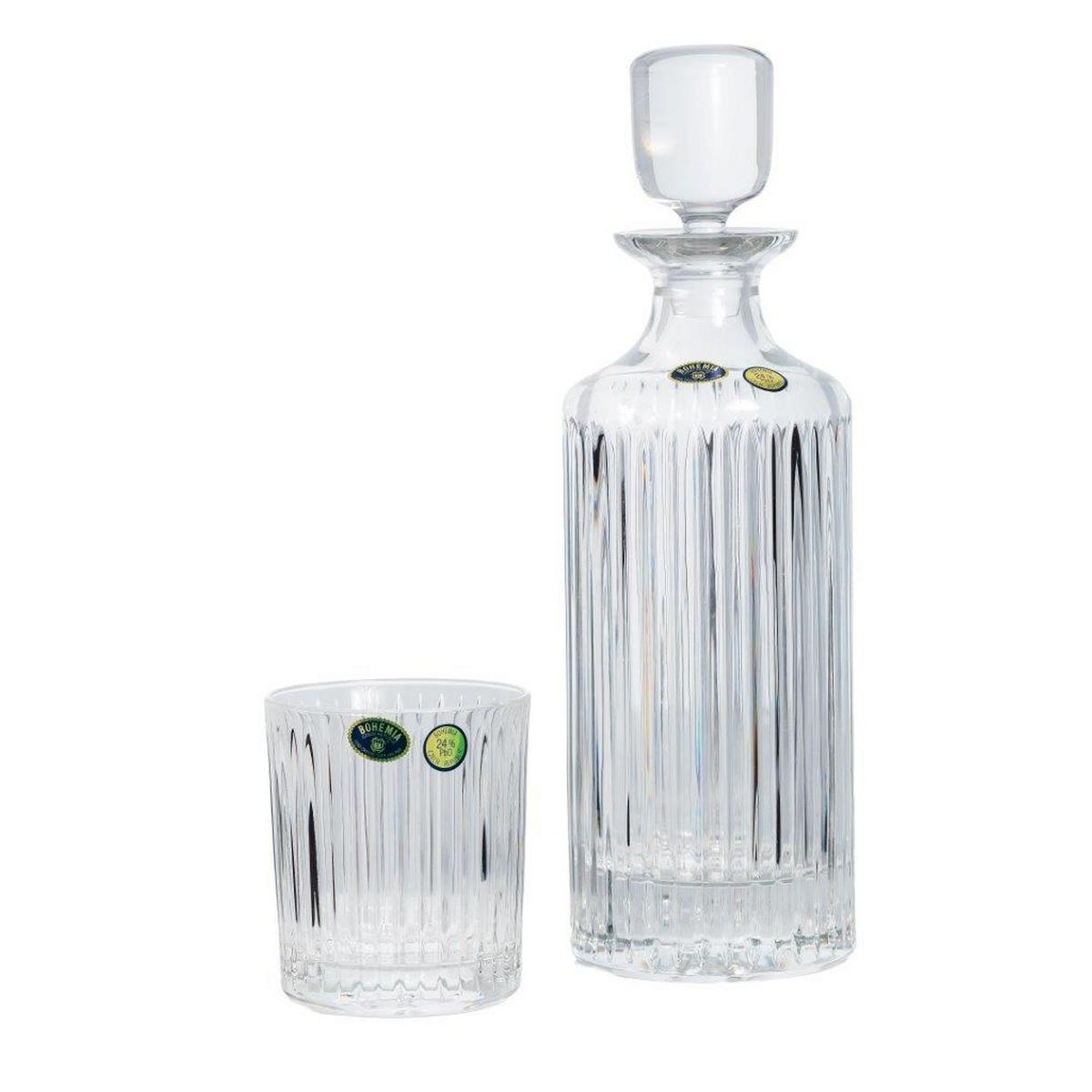 Skyline Set 6 Pahare Si Decantor Cristal Bohemia Whisky 2021 aranjareamesei.ro