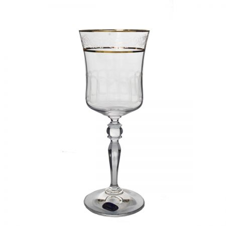 GRACE Set 6 pahare cristalin decor aur vin 300 ml