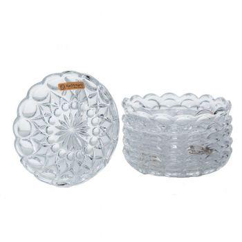 ANGLIA Set 6 platouri cristal tort 14.5 cm