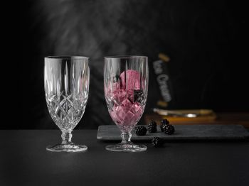 NOBLESSE Set 2 cupe inghetata cristalin 410 ml