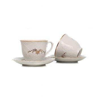 CAROLINE Serviciu cafea portelan 6 persoane 170 ml