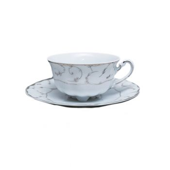 VIVIEN Serviciu ceai portelan 6 persoane 220 ml