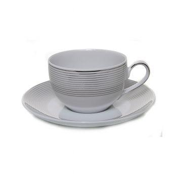 INGRID Serviciu ceai portelan 6 persoane 220 ml