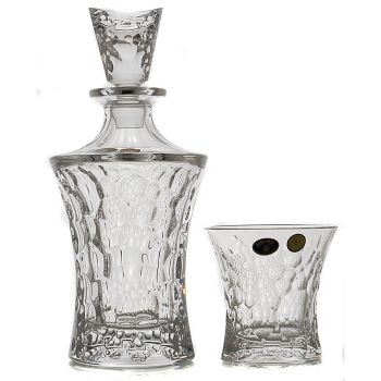 MOLECULE Set 6 pahare si decantor cristal whisky