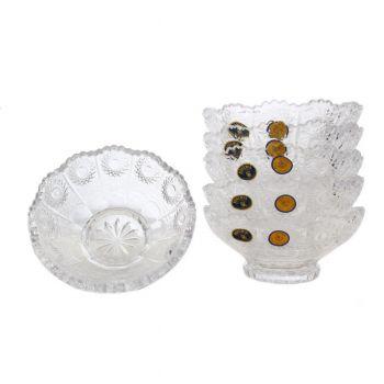 Set 6 boluri cristal Bohemia 13 cm