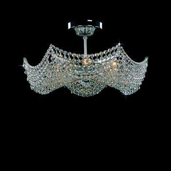 Plafoniera cristal 6 brate