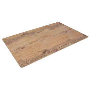 Platou melamina rectangular, decor lemn, 53*32,5*1,5 cm
