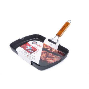 BACODA tigaie grill, aluminiu turnat 36*24*4 cm