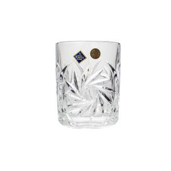 PINWHEEL Set 6 pahare cristal whisky 360 ml