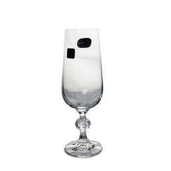 CLAUDIA Set 6 pahare cristalin sampanie flute 180 ml