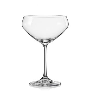 BAR Set 4 pahare cristalin martini/inghetata 340 ml