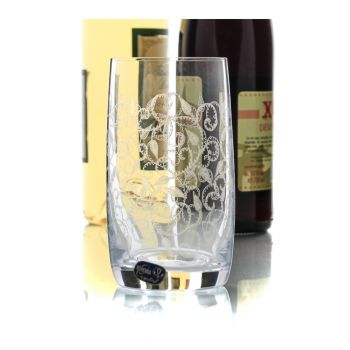 IDEAL Set 6 pahare cristalin apa/ suc 380 ml cu decor pantografie