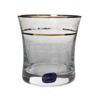 GRACE Set 6 pahare cristalin decor aur whisky 280 ml