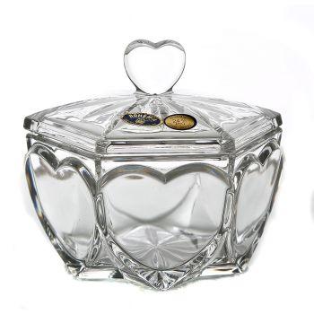 """Cutie bijuterii cristal """"Inimioara"""" 13 cm"""