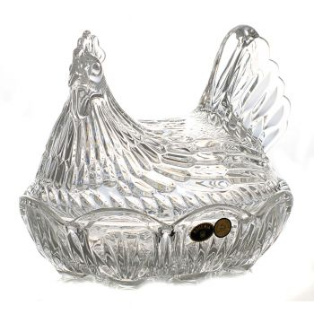 "Bomboniera cristal Bohemia ""Pasare"" 21.5 cm"