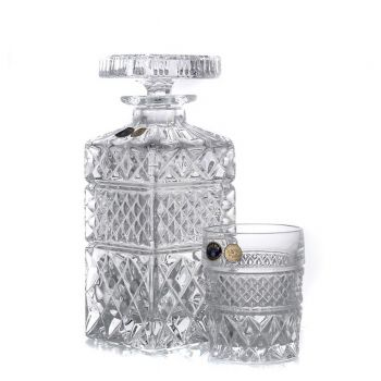 MADISON Set 6 pahare si decantor cristal whisky