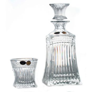 IMPERIAL Set 6 pahare si decantor cristal whisky
