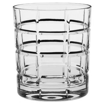 SQUARE Set 6 pahare cristal whisky 320 ml