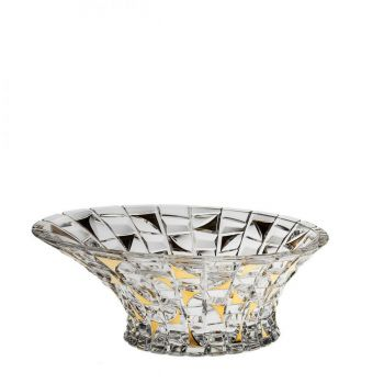 PATRIOT Bol cristal decor aur 33 cm