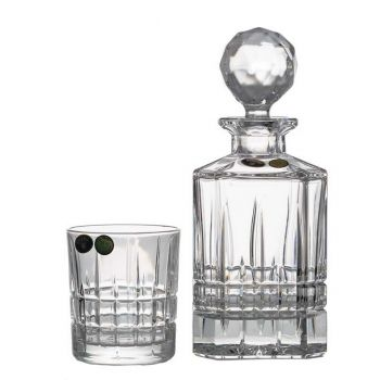 LONDON Set 6 pahare si decantor cristal whisky