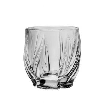 BROMELIAS Set 6 pahare cristal whisky 350 ml