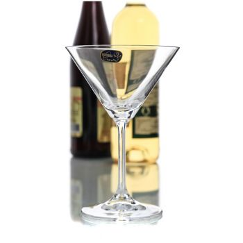 LARA Set 6 pahare cristalin martini 210 ml