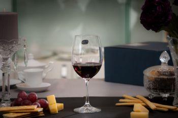 LARA Set 6 pahare cristalin apa/vin rosu 450 ml