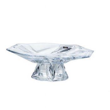 ANGLES Platou cristalin cu picior 35.5 cm