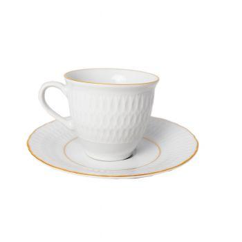 MINERVA Serviciu ceai portelan 6 persoane 220 ml