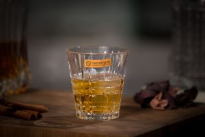 SQUARE Set 4 pahare cristalin whisky 260 ml