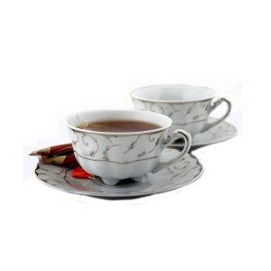 VIVIEN Serviciu ceai portelan 2 persoane 220 ml