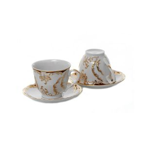 OLIMPIA Serviciu ceai portelan 6 persoane 170 ml