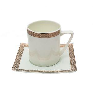 ELECTRA Serviciu cafea portelan 6 persoane 100 ml