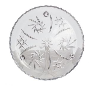 PINWHEEL Platou cristalin cu picioruse 30 cm