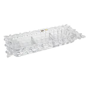 Platou cristal Bohemia compartimentat 36.5 cm