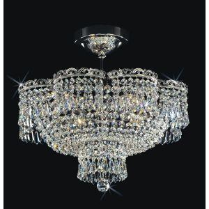 Plafoniera cristal 4 brate