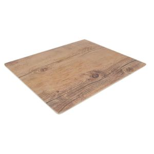 Platou melamina rectangular, decor lemn, 32,5*26,5*1,5 cm