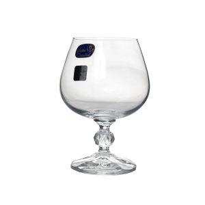 CLAUDIA Set 6 pahare cristalin cognac 250 ml
